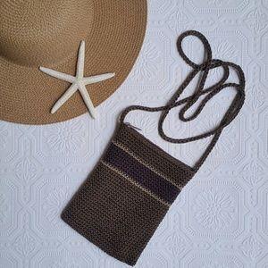 Handbags - Brown Crochet Purse